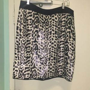 Patterned sequined pencil skirt - The Limited - 16